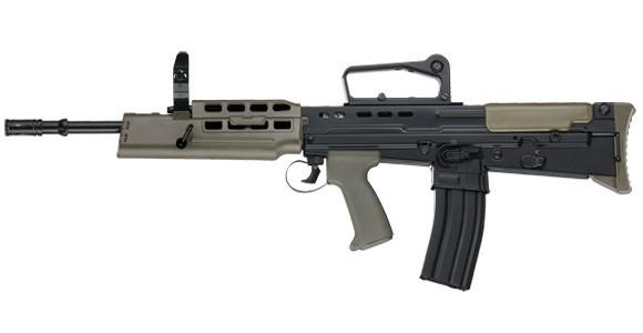 Ics L85 A2 Sa80 Airsoft Rifle Black Actionhobbies Co Uk