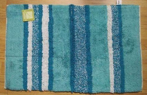 Changingbedrooms Com Teal Multi Tone Stripe Indoor Rug