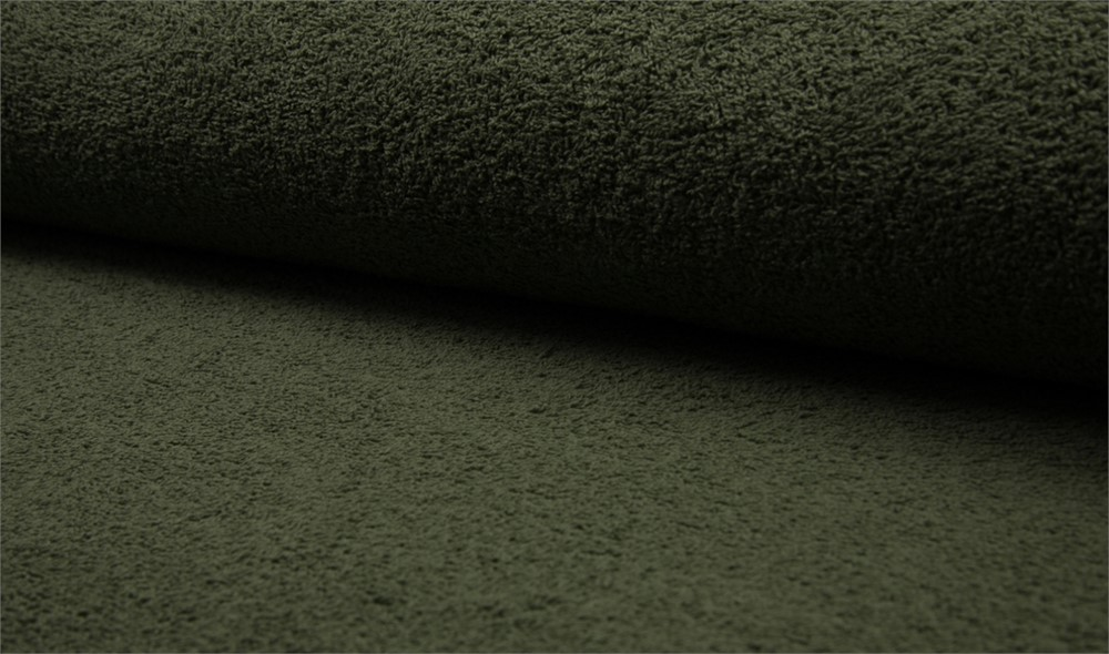 Double Sided Cotton TERRY TOWELLING Fabric Material ARMY GREEN