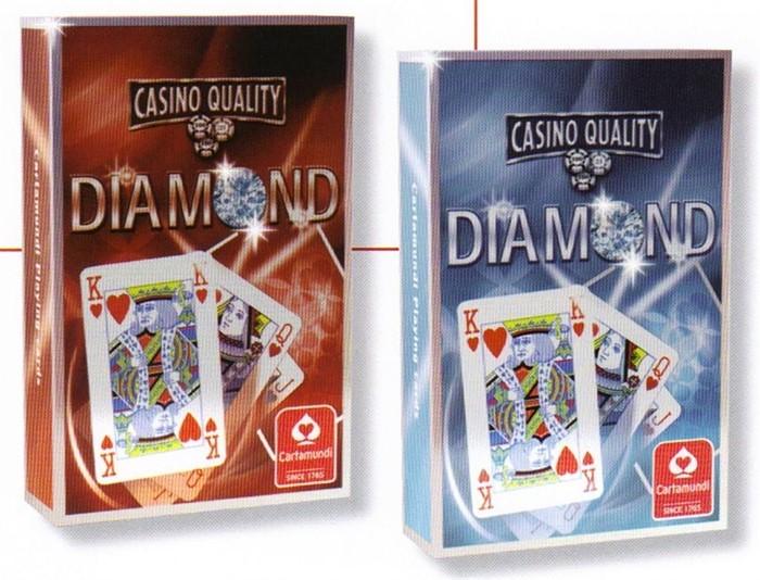 In Red or Blue Bridge Size Cartamundi Diamond Playing Cards Casino Quality