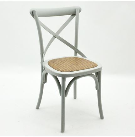 4x Cintra Cross Back / bent wood Dining Chairs - French Grey