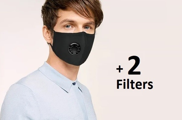 Air Valve Face Mask with 2 filters (replaceable)