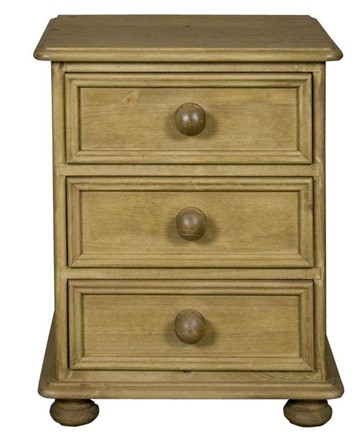 Ascot 3 Drawer Bedside