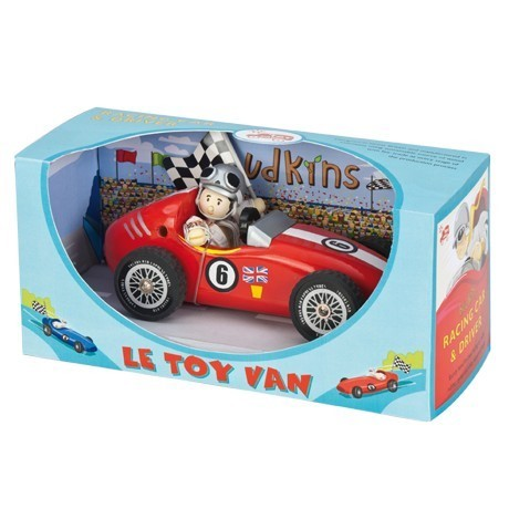 Budkins Red Retro Racer - Wooden Toys by Le Toy Van