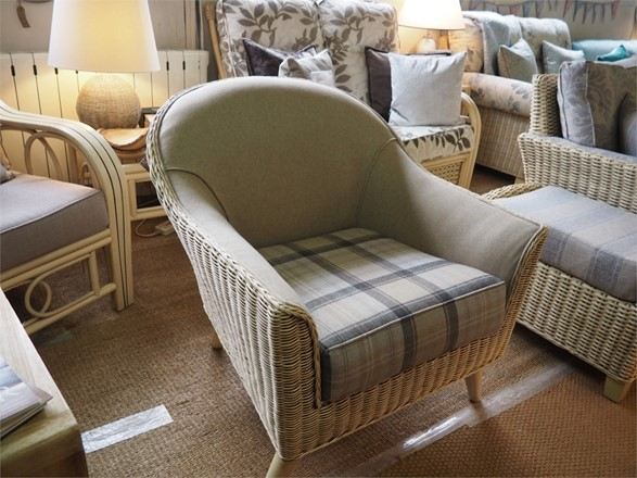 Cane furniture clearance - Ex display Henley Armchair