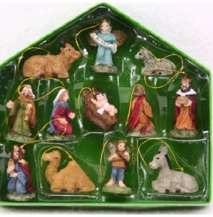 Christmas Nativity Decorations (pack of 12)