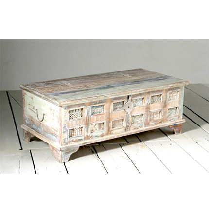 DISCONTINUED - EX DISPLAY - Little Tree Reclaimed Furniture - Whiteleaf Upcycled Trunk Box Coffee Table