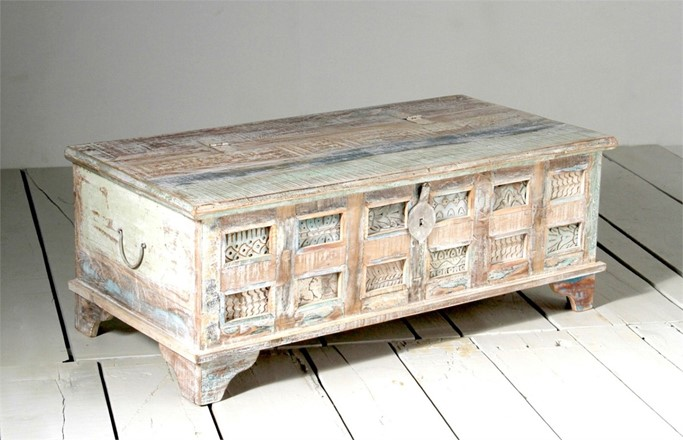 EX DISPLAY - Little Tree Reclaimed Furniture - Whiteleaf Upcycled Trunk Box Coffee Table