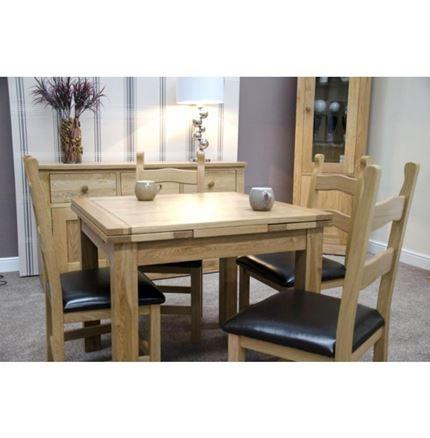 Elegance Oak Small Draw Leaf Dining Table