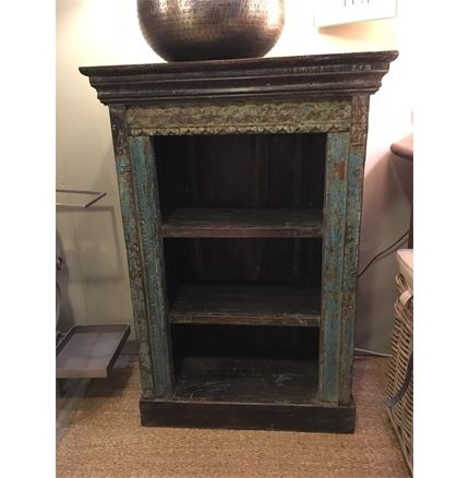 Hand Carved Bookcase - shelf unit - dark finish