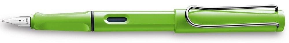 Lamy Safari Green Fountain Pen + Free pk(5) Blue ink cartridges