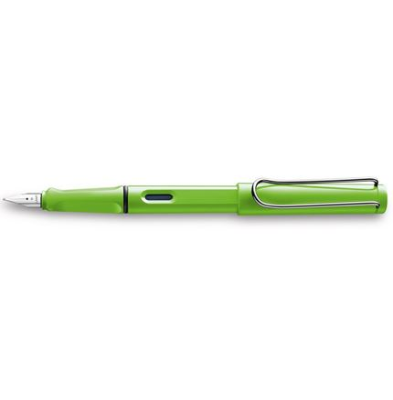 Lamy Safari Green Fountain Pen + Free pk(5) Blue ink cartridges
