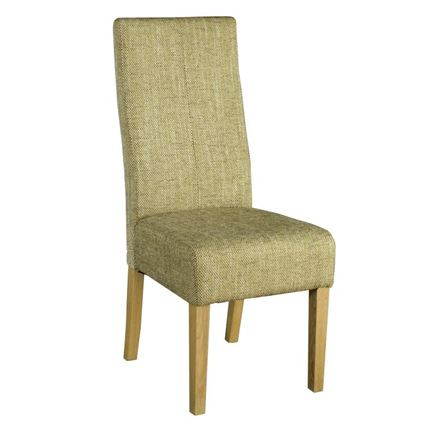 Light Brown Fabric Dining Chair