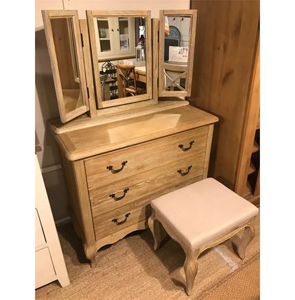 Maison EX Display Bundle - 3 Drawer Chest - Stool - Mirror