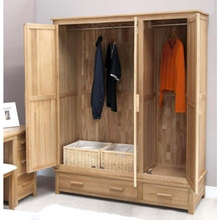 Opus Oak Triple Wardrobe