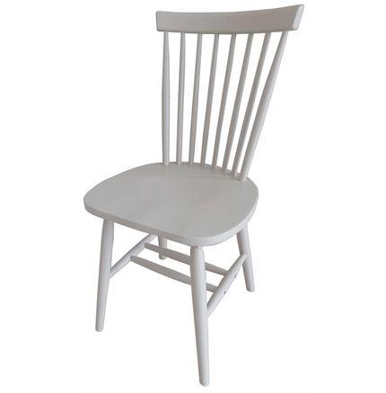 Rib Dining Chair - Chalk Finish - white