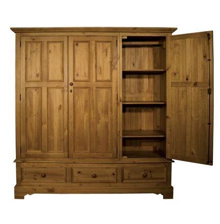 Rossendale Triple Door Wardrobe With Drawers
