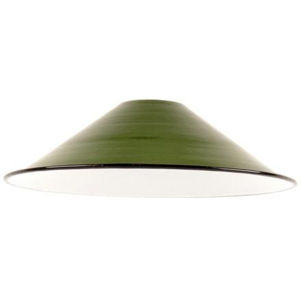 Small Enamel Light - Lamp shade - Green - 8.5inch Dia