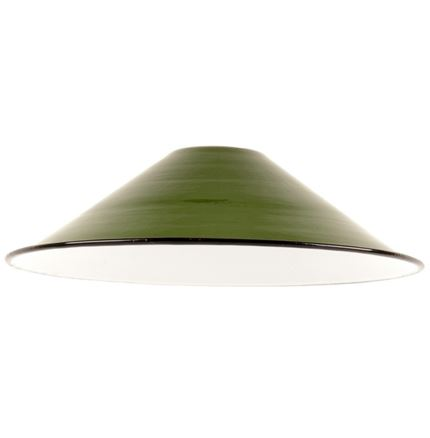 Small Enamel Light - Lamp shade - Green - 8.5inch Dia