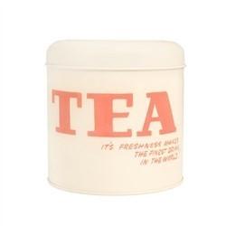 Vintage by Hemingway Typography set of 3 Tins - TEA - COFFEE - SUGAR