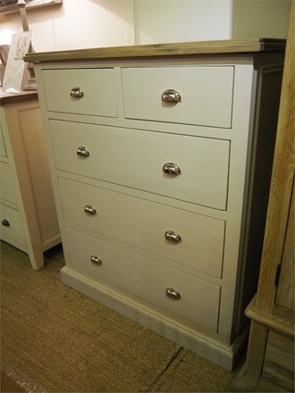 Woodsmoke Bedroom Furniture - 2 over 3 chest of drawers