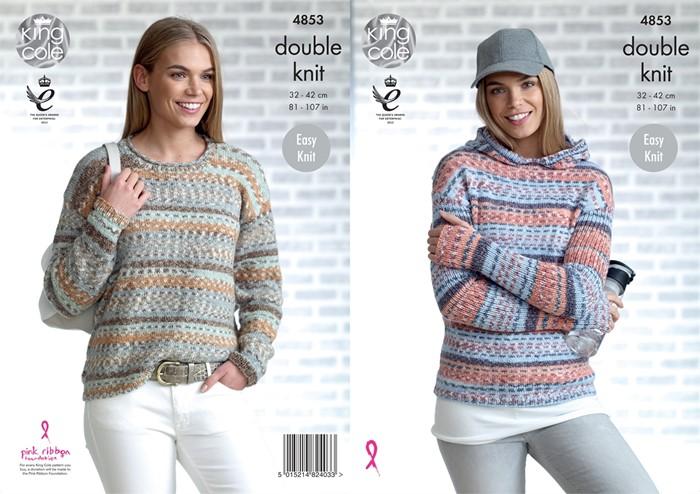 King Cole Penguin Knitting Pattern : King Cole Drifter DK Pattern KC4853