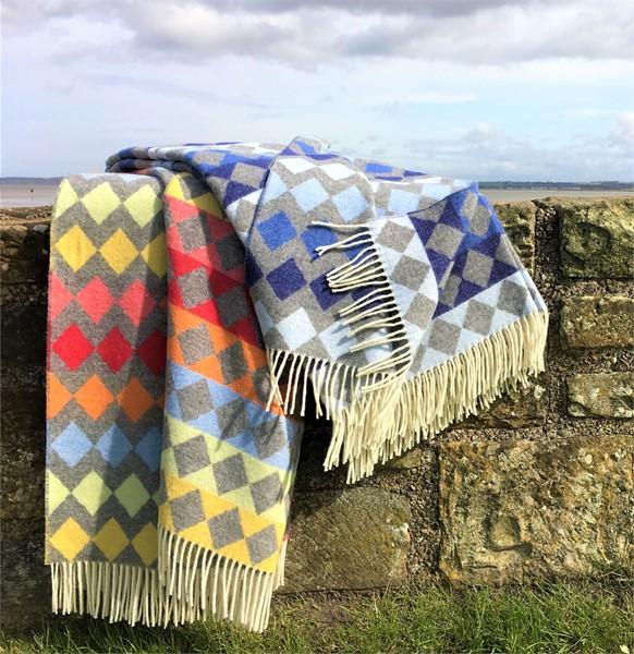 Wool Blanket Online British Made Gifts Diamond Merino Wool Throw Simple Merino Wool Blanket Throws