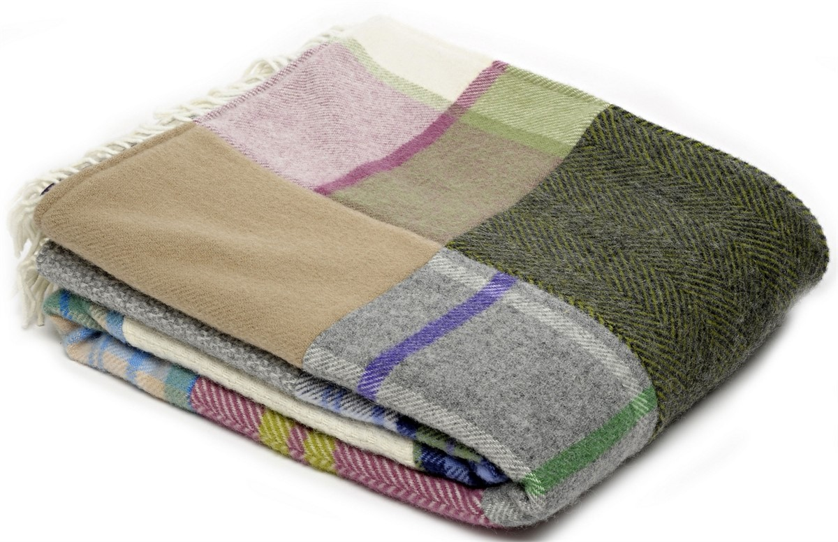 Wool Blanket Online British Made Gifts Patchwork Pure